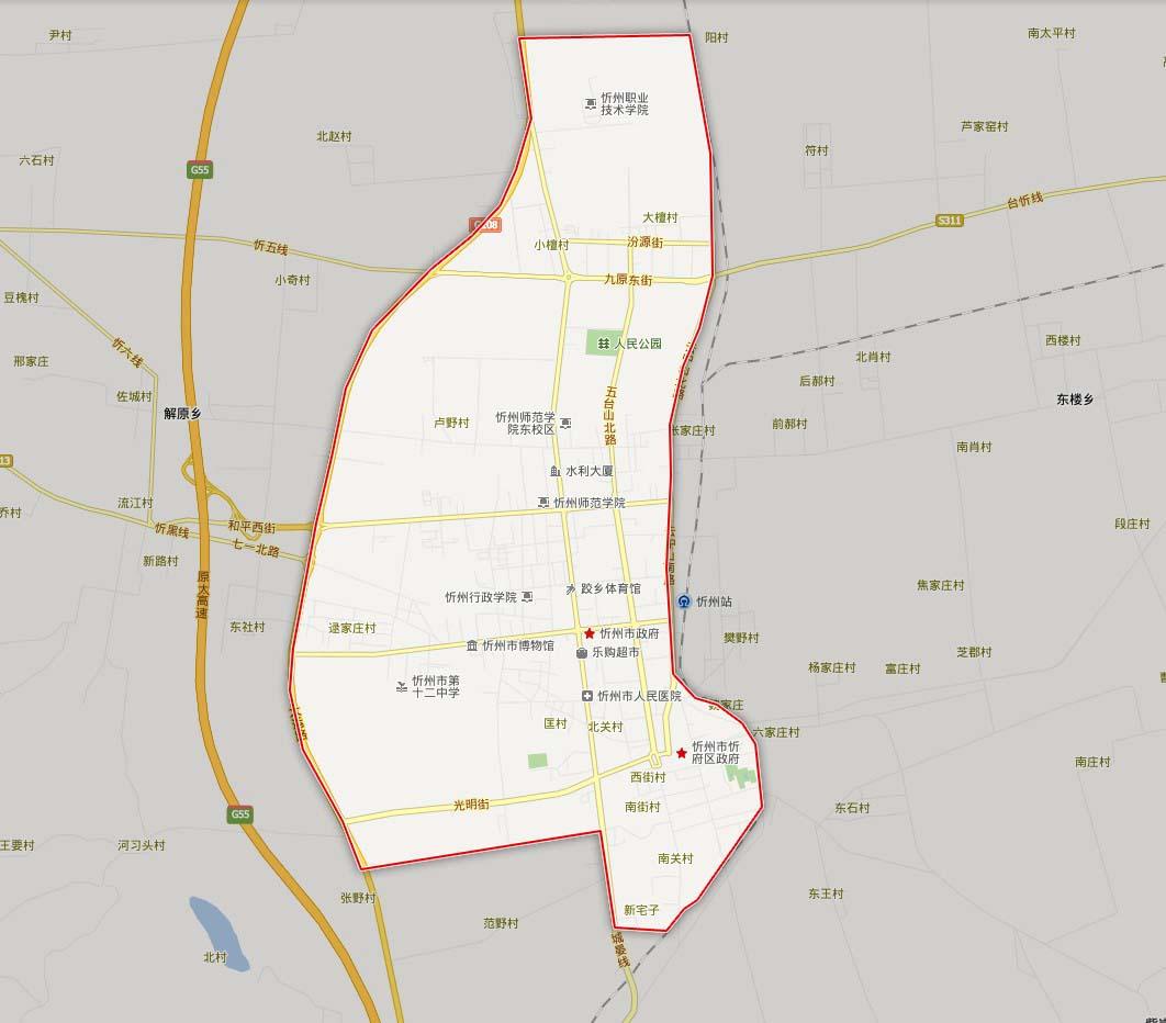 忻州慕山路地图