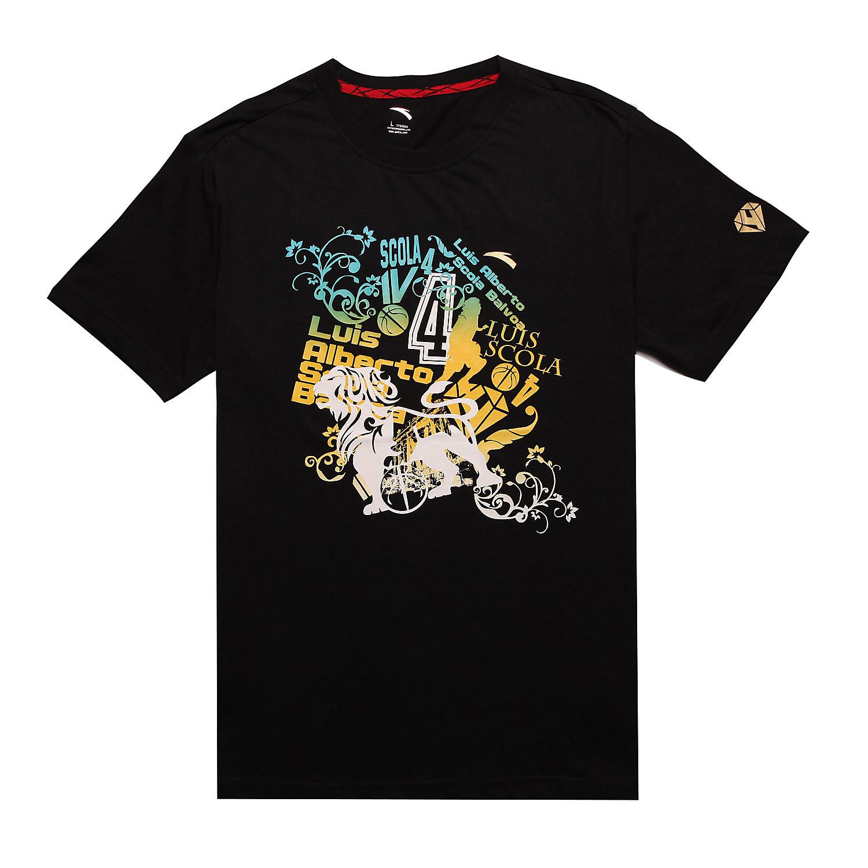 安踏男式圆领短袖t恤15121161-1