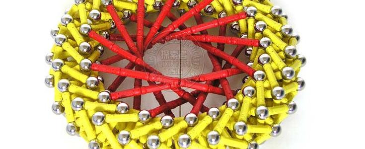 探索者 D系列磁力棒拼装组合磁性积木送两小车