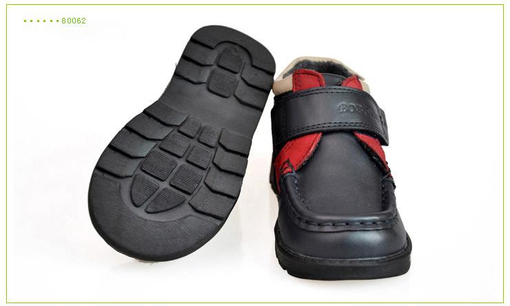 宾尼】童鞋男 棉鞋 黑色 宝宝棉鞋 新款 男童棉鞋 真皮B80062 深蓝色