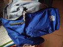 瓊瑛 男童女童沖鋒衣加絨外套風衣新款春秋冬裝兒童大衣中大童韓版時尚兩面穿 雙面穿-藍色加絨外套 130(建議身高110-120CM) 實拍圖