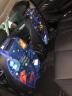 乐往 汽车车载座椅后背防踢垫 座椅防脏垫踩脏垫防蹬垫 座椅背收纳挂袋车内用置物垫储物袋恐龙战队 汽车用品