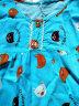 棉绸睡衣女士短袖长裤春夏季套装可爱薄款夏天绵绸秋家居女服两件套暖乔 肉色熊头 XXL(125--145斤)