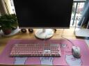 新盟(Technology)N518 键盘鼠标套装有线USB游戏办公家用商务女生笔记本台式电脑背光静音键鼠 淡雅粉套装
