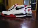 Nike耐克男鞋Flight Legacy AJ4 兄弟款运动鞋休闲鞋高帮板鞋BQ4212-100 BQ4212-100/AJ4 白红配色 42.5