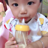 贝尔蒂宝贝 适合贝亲吸管组宽口径奶瓶转换变奶嘴喝奶喝水学饮杯自动配件(适合宽口奶瓶) 硅胶吸管(1根)