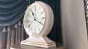 康巴絲(Compas)掛鐘古典歐式座鐘表復古靜音客廳裝飾臺鐘創意臥室床頭時鐘石英鐘 3020羅馬盤象牙白 實拍圖