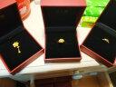 周大福 百年好合 足金黃金戒指(工費:58計價) F1284 足金 約3.90g 實拍圖