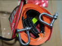 ANMA 汽車應急拖車繩 轎車越野車牽引繩帶拉車繩AM2102帶反光條 橘黃色5噸5米 實拍圖