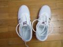 喬尚太極鞋帆布武術鞋練功鞋加厚牛筋底春夏秋男女同款 白布銀條 40 實拍圖