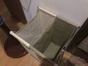 歐潤哲 臟衣籃 免安裝折疊牛津布袋鋁制X型雙格臟衣服分隔收集筐 實拍圖
