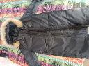 太子龍 羽絨服男中長款 加厚連帽韓版修身青年時尚大毛領男士外套羽絨服 黑色-152 M(100斤-130斤) 實拍圖