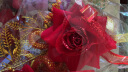 思澤 婚慶結婚胸花新郎新娘父母別針胸花條婚禮用品大全婚宴新人襟花男方女方佩戴的中式中國風喜事喜宴用的 伴郎伴娘一對 金葉胸花 實拍圖