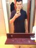 與狼共舞短袖T恤男2019夏裝新款純棉POLO衫翻領短袖t恤男打底衫大碼男裝6A 藏青色101 175/92A(XL) 實拍圖
