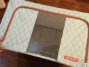 樂扣樂扣(LOCK&LOCK)收納箱整理箱 菱形圖案百納箱5件套淡藍色(55L*2、66L*2、6格*1) LLB826SH605 實拍圖