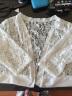 【工廠直供】楓紫2019春裝新款蕾絲短外套女FZ8887-6 短袖白色 5XL 實拍圖