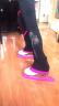 【飛格瑞】SKFORCE旋動花樣滑冰訓練服 兒童成人滑冰褲服裝 加厚高彈訓練褲 舒適不起球 粉色訓練褲子 130cm 實拍圖
