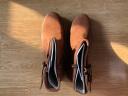 Clarks其樂女鞋冬季低跟粗跟金屬扣短靴踝靴Marana Amber 深棕褐色261372394 37 實拍圖