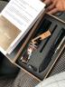 【近倉發貨】手表帶男真皮STJ牛皮表帶適用于dw天梭力洛克俊雅浪琴名匠卡西歐506天王阿瑪尼男女表鏈 自動玫扣-黑帶黑線 20mm 實拍圖