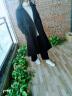 毛呢大衣女韓版秋裝新款寬松西裝領呢子大衣中長款冬季毛呢外套防羊絨 藏藍色 M 實拍圖