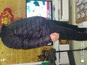 【京選尚品×雪中飛】雪中飛2019秋冬新款男士輕薄羽絨服休閑短款情侶款外套 黑色8056 185/100A 實拍圖
