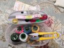 針線盒套裝家用 彩色大號縫紉針線包 多功能旅行工具針線便攜十件套 實拍圖