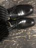 伊施瑪雅(Ishmaiah)商務休閑鞋男士正裝鞋英倫系帶透氣皮鞋男婚鞋子 1607 黑色 42 實拍圖