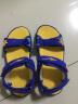 鴻星爾克童鞋男兒童涼鞋小童沙灘鞋魔術貼 古藍/清幽藍(0019) 31 實拍圖