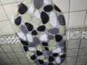 青葦個性PVC浴室防滑 地墊腳墊 彩石 底部吸盤設計 實拍圖