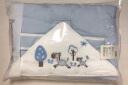 全棉時代 嬰兒睡袋嬰兒抱被兒童春夏寶寶純棉針織包被 90*90cm 1件裝 淺藍色小馬 實拍圖