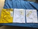 艾路絲婷2019夏裝新款純棉T恤女短袖V領上衣韓版修身純色體恤衫TX3560 白色V領 L 實拍圖