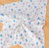 喜親寶 新生兒浴巾多用蓋毯 嬰兒竹纖維泡泡毛巾被云毯澡巾 水洗紗布兒童浴巾包巾105*120cm綠條紋 實拍圖