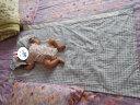 良良(liangliang) 嬰兒涼席 夏季亞麻嬰兒床苧麻幼兒園寶寶兒童加大涼席 藍色 125cm*74cm(大號) 實拍圖