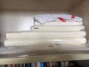 榮寶齋宣紙 初學四尺四開 學生100張/刀文房四寶白色書畫練習半生熟宣紙 實拍圖