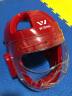 九日山 wesing空手道頭盔成人兒童護頭訓練透氣防護面罩成人護具全包圍 紅色 XL 實拍圖