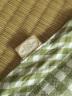 良良(liangliang) 嬰兒涼席 夏季亞麻嬰兒床苧麻幼兒園寶寶兒童加大涼席 格彩粉色 110*60cm(小號) 實拍圖