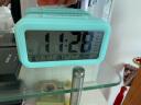 康巴絲(Compas)鬧鐘智能電子靜音夜光聰明燈自動感光三組鬧鈴小鬧鐘兒童學生鐘WD877藍色 實拍圖