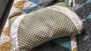 良良(liangliang) 嬰兒枕頭定型枕防偏頭新生兒水洗透氣兒童枕0-1-3-5歲用品幼兒禮盒 加長盒裝  綠咖 實拍圖