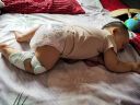 歐育嬰兒爬行護膝春秋透氣學步防摔防磨護肘兒童護膝AQ2002 男寶寶兩副裝 實拍圖