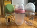 可么多么 COMOTOMO 250ml粉色+3滴寬口徑硅膠奶嘴 新生兒防摔寶寶斷奶 奶瓶套裝 實拍圖
