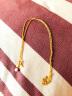 周大福 簡約 足金黃金項鏈(工費:138計價) F159797 足金 40cm 約3.30g 實拍圖