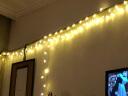 墨斗魚 LED燈小彩燈 戶外防水掛樹掛墻可銜接 門廳走廊室外庭院花園掛燈 暖白色星星燈10米100燈插電款帶尾插 實拍圖