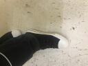 人本帆布鞋男休閑韓版潮鞋學生鞋男鞋低幫透氣系帶2019春秋季板鞋 黑色 41碼 實拍圖
