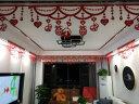 極度空間 婚房裝飾布置 結婚婚慶用品 客廳無紡布吊頂拉花喜字 比翼鳥*12 實拍圖