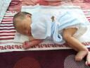 全棉時代 嬰兒衣服連體衣夏季0-3個月新生兒包屁衣4件禮盒裝純棉紗布寶寶服長短款各2件 59/44 藍色+白色 實拍圖