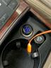 飛利浦(PHILIPS)迷你車載充電器快充 3.1A智能輸出12V/24V車通用 車充頭點煙器一拖二雙USB  DLP3520N 黑色 實拍圖