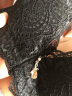 都市麗人 文胸套裝聚攏無鋼圈薄款性感蕾絲胸罩手掌杯女士內衣套裝2B7558 黑色 34/75B 實拍圖