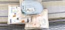 全棉時代 定型枕頭嬰兒 定型枕新生兒 嬰幼兒紗布定型枕  34*21cm藍白格 1件/袋 實拍圖
