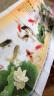 刺繡十字繡客廳家用新款印花3D十字繡線繡自己繡九魚圖花草系列大畫2米富貴有余荷花 小版棉線--150x60厘米  送實用工具包 實拍圖