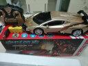 迪美遙控車變形汽車機器人模型 一鍵展示功能帶燈光音樂可充電男孩兒童玩具車9002A金色 實拍圖